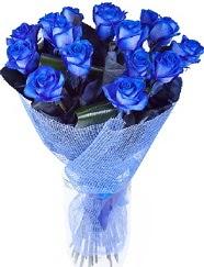 9 adet mavi gülden buket çiçeği  Balgat Ankara uluslararası çiçek gönderme