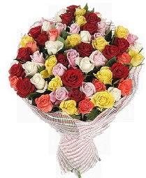 51 adet rengarenk gül buketi  Balgat Ankara kaliteli taze ve ucuz çiçekler