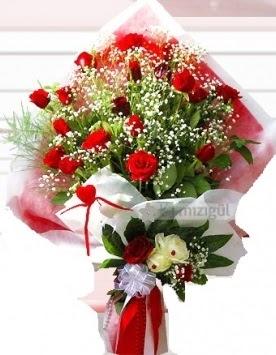 Kız isteme buketi çiçeği 41 güllü  balgat çiçek siparişi Ankara çiçek yolla