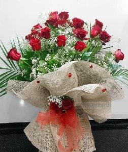 Kız isteme çiçeği söz nişan çiçeği buketi 21 güllü