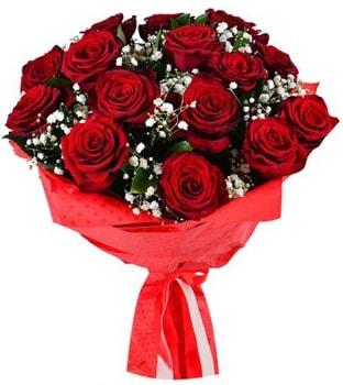 Kız isteme çiçeği buketi 17 adet kırmızı gül  Balgat Ankara çiçek gönderme