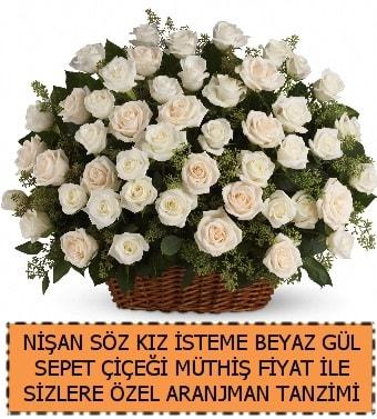 Söz nişan kız isteme çiçeği 33 beyaz gül  Ankara İnternetten çiçek siparişi