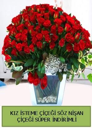 Söz nişan kız isteme çiçeği 71 gülden  balgat çiçek siparişi Ankara çiçek yolla