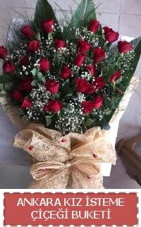 Kız isteme çiçeği kız isteme buket modeli  Balgat Ankaradaki çiçekçiler
