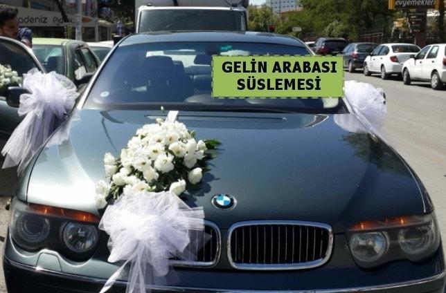 Gelin Arabası süslemesi Düğün arabası  Balgat online çiçekçi telefonları