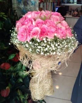 33 adet pembe gül nişan kız isteme buketi  Ankara İnternetten çiçek siparişi