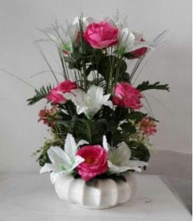 Porselen tabak yapay çiçek  Balgat online çiçekçi telefonları