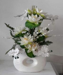 Porselen yapay çiçek tanzimi  Balgat online çiçekçi telefonları