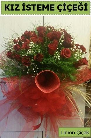 41 adet kırmızı gülden kız isteme buketi  çiçek satışı ankara balgat çiçekçi