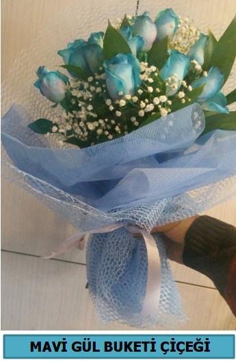 12 adet mavi gülden mavi buket  Balgat Ankara çiçek gönderme