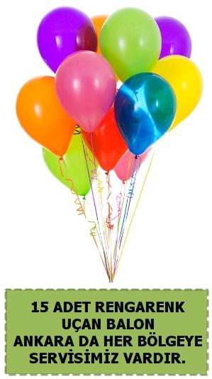 15 adet uçan balon rengarenk  çiçek satışı ankara balgat çiçekçi