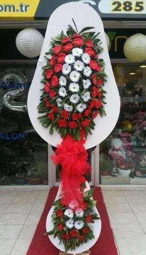 Yapay gerbera çiçeklerinden çift katlı çiçek  Balgat Ankara çiçek gönderme