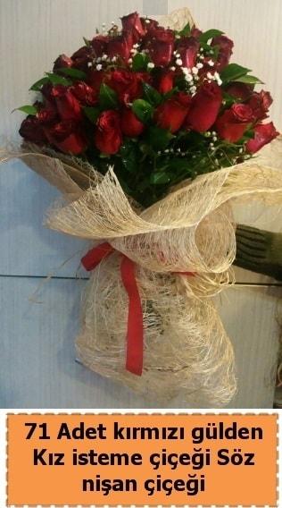 71 adet kırmızı gül söz nişan çiçeği  çiçek satışı ankara balgat çiçekçi