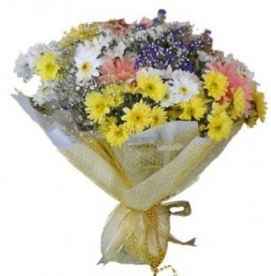 Karışık mevsim çiçeği  çiçek satışı ankara balgat çiçekçi