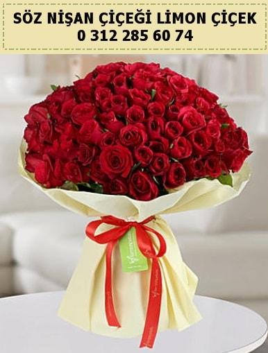 51 adet kırmızı gül söz nişan buketi çiçeği  Ankara internetten çiçek satışı