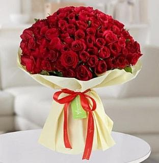 101 adet kırmızı gül buketi koca demet  Balgat Ankaradaki çiçekçiler