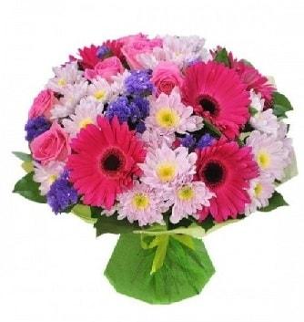 Karışık mevsim buketi mevsimsel buket  çiçek satışı ankara balgat çiçekçi