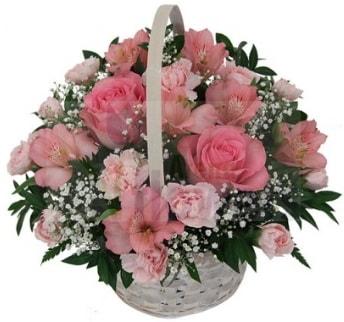 Karışık mevsim sepeti  Balgat Ankara uluslararası çiçek gönderme