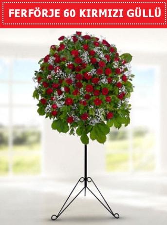 60 Adet kırmızı gülden ferförje  Balgat  ucuz çiçek , çiçekçi , çiçekçilik