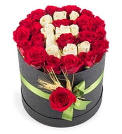 41 adet kırmızı beyaz gül harfli  Balgat online çiçekçi telefonları