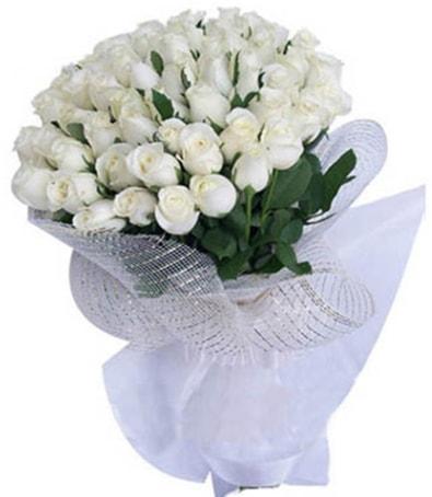41 adet beyaz gülden kız isteme buketi  Ankara internetten çiçek satışı