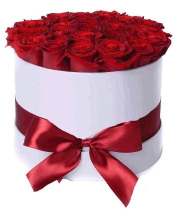 29 adet kırmızı gülden kutu çiçeği  Ankara güvenli kaliteli hızlı çiçek