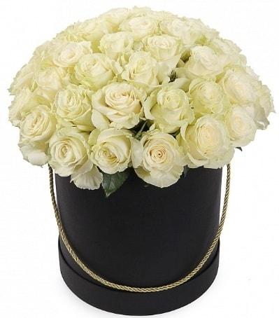 33 Adet beyaz gül özel kutu içerisinde  Balgat Ankara çiçek siparişi sitesi