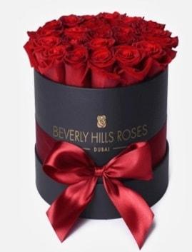 Siyah kutuda 25 adet kırmızı gül tanzimi  balgat çiçek siparişi Ankara çiçek yolla